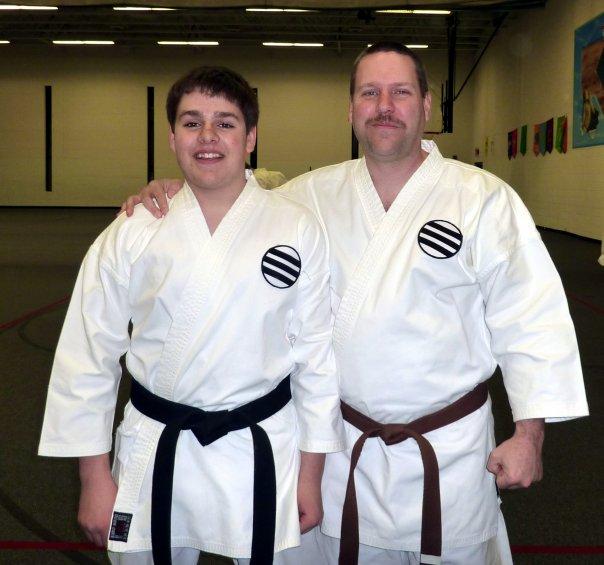 My son the Shotokan Shodan!